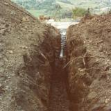 Protection of pipes and sewers in areas of unstable ground